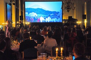 "Photo HASSE FERROLD: LAUNCH of Transition World, 16 – 17 May 2015, Denmark  Conference at Marienlyst Conference Center ,Helsingør & GALLA Evening at Kronborg Castle. Photo 1: Simultainous TV Transmission to Knights Hall Kronborg Castle from Mount FUJI JAPAN of ceremony by SUNRIZE IN JAPAN at the TIME OF SUNSET IN DENMARK. PHOTO 2: Richard Olivier (son of  http://en.wikipedia.org/wiki/Laurence_Olivier ) delivered a keynote speech and toast ""Evolving fate to destiny"", inspired by Shakespeare's Hamlet  http://www.oliviermythodrama.com/ Photo 3: L :Danish co-Founder  Bente Milton  R: Danish co-founder Edit Moltke Leth A global renaissance – Prosperity for All We are alive at a time of important change. There is unprecedented disruption to the systems we once thought sacrosanct and the things we love are threatened by climate change, resource depletion and violent conflicts - but as the Chinese proverb says: ""In an age of chaos, heroes arise."" We are all on this journey together and Transition World's launch event is an international call to action. What we are offering you is a unique opportunity to meet and connect with influential game changers to share powerful ideas, resources and networks. By the close of our weekend together, we'll have a clear direction for our newly-created ""global change agency!"" The gala evening at Hamlet's Castle in Denmark will be a celebration of our ability to connect with likeminded people and organizations across the globe. Richard Olivier will deliver a keynote speech and toast ""Evolving fate to destiny"", inspired by Shakespeare's Hamlet and in the company of world-class musicians from the Royal Danish Opera and the Middle East Peace Orchestra. When the sun sets behind the legendary renaissance castle in Denmark, it rises at Mount Fuji in Japan on the other side of the planet, where our collaborating partners from the Goi Peace Foundation and the Club of Budapest will organize a parallel event. At this very moment, the two locations w"